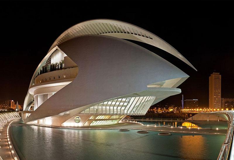 Vista de noche Palau de les arts